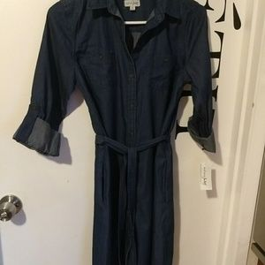 Maison Jules dark chambray dress NWT